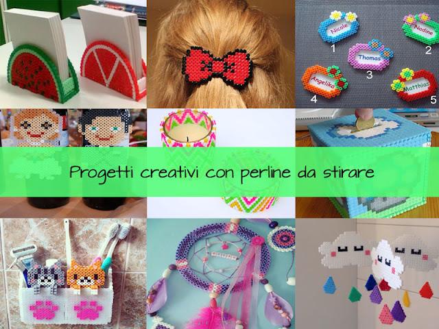 Lavoretti creativi estivi con le perline da stirare Pyssla