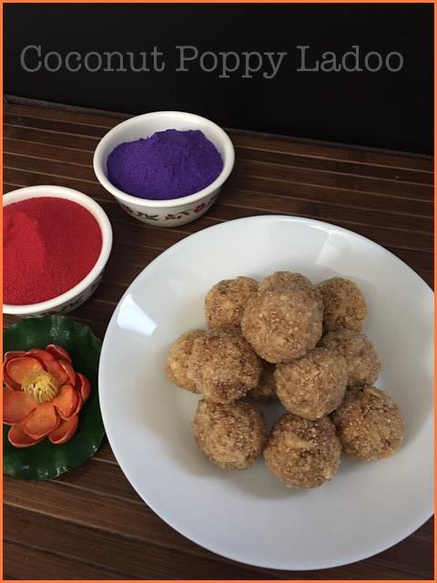 Coconut Poppy Laddu
