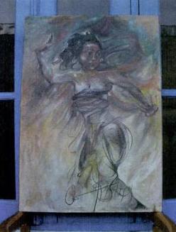 Lukisan Karya Antonio Blanco yang bertema penari Bali