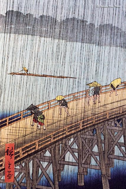 Hiroshige - El puente Ōhashi en Atake bajo una lluvia repentina por El Guisante Verde Project