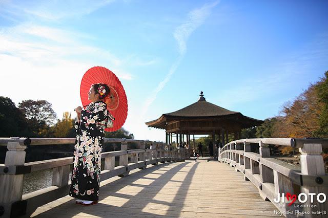 奈良で成人式の前撮りロケーション撮影