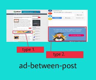 ad between post