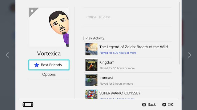 Vortexica offline 10 days Nintendo Switch friend list