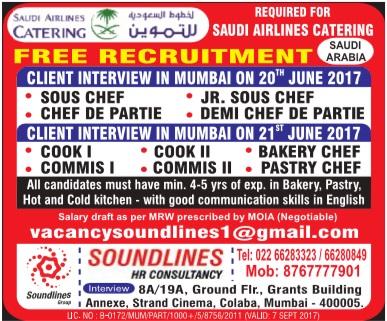 Job Vacancies In Saudi Airlines Catering Company