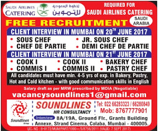 Job vacancies in Saudi Airlines Catering Company