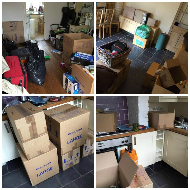 Bear-Moves-Home-collage-of-rooms-full-of-boxes-and-bags