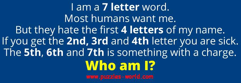 i am a 7 letter word