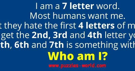 I Am A  Letter Word Most Humans Want Me