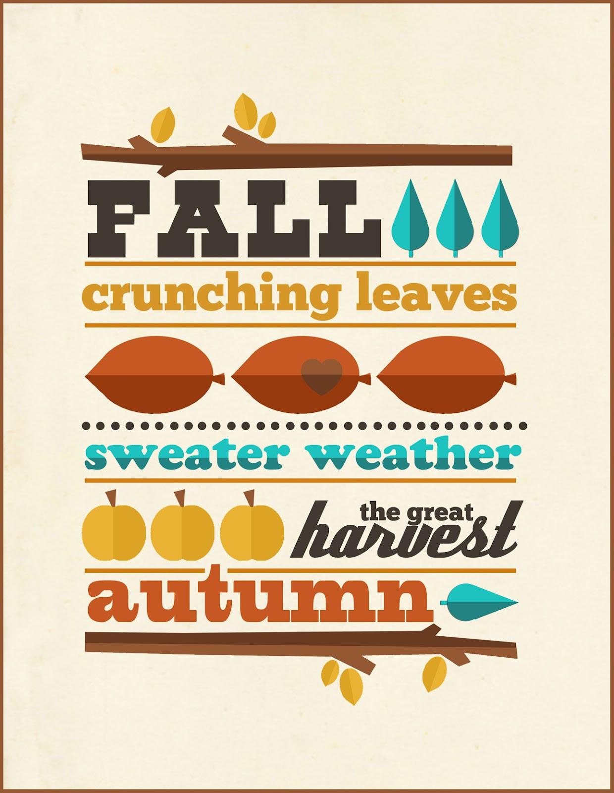 Free Fall Printable on 4 Seasons Craft