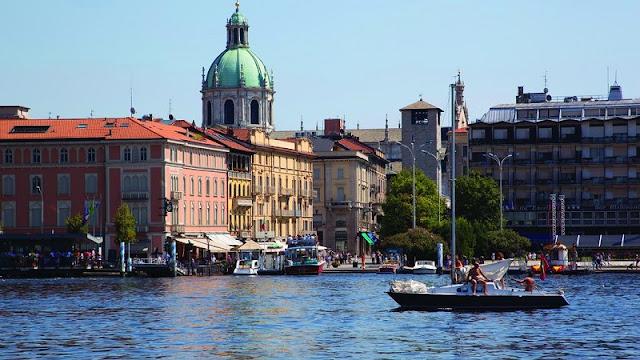 Vista de parte da cidade de Como