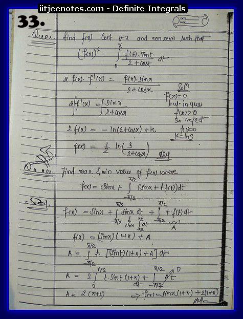 definite integrals class 12-2