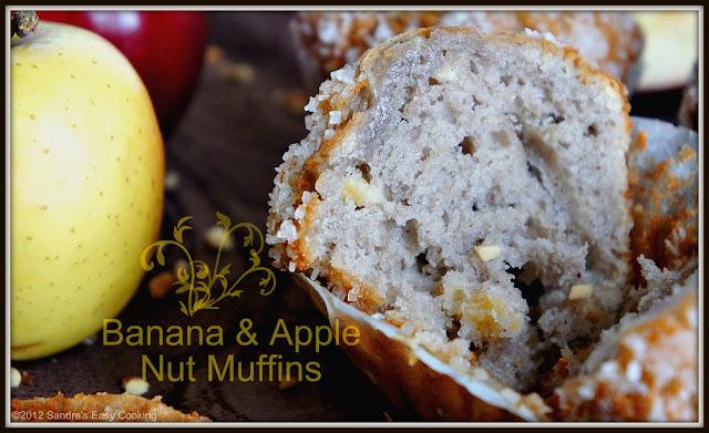 Banana & Apple Nut Muffins