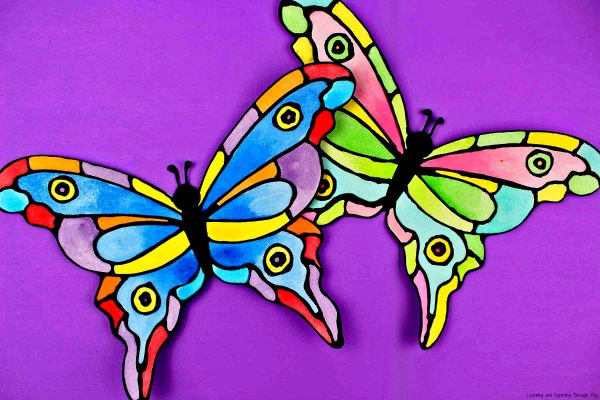 Black Glue Butterfly Craft