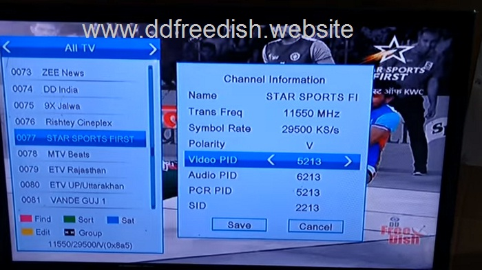 DD Freedish added DD India and Star Sports First