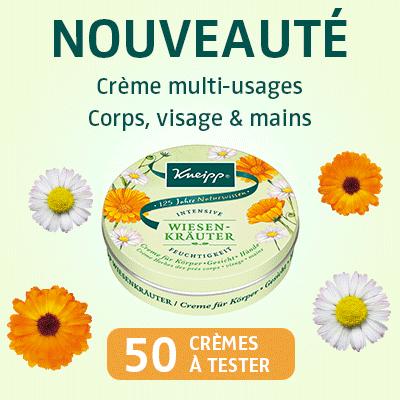 Teststeur De Produit 50 Crèmes Herbes des prés de Kneipp à tester !