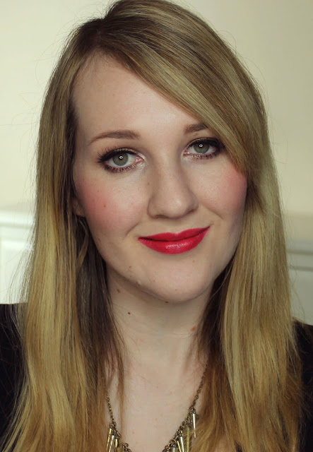 Jordana True Red lipstick swatches & review
