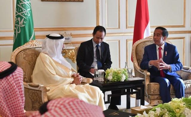 Putra Raja Salman Menjamu Presiden