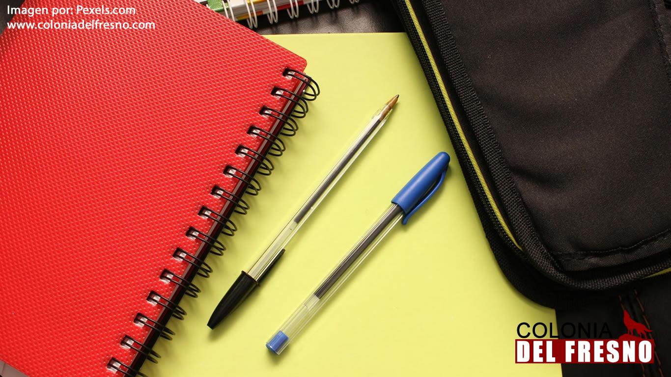 cuadernos agrupados y libros con unas plumas