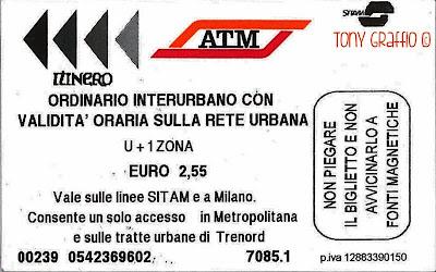 Biglietto ATM costo aumento 2 euro unificazione tariffe sicurezza metropolitana