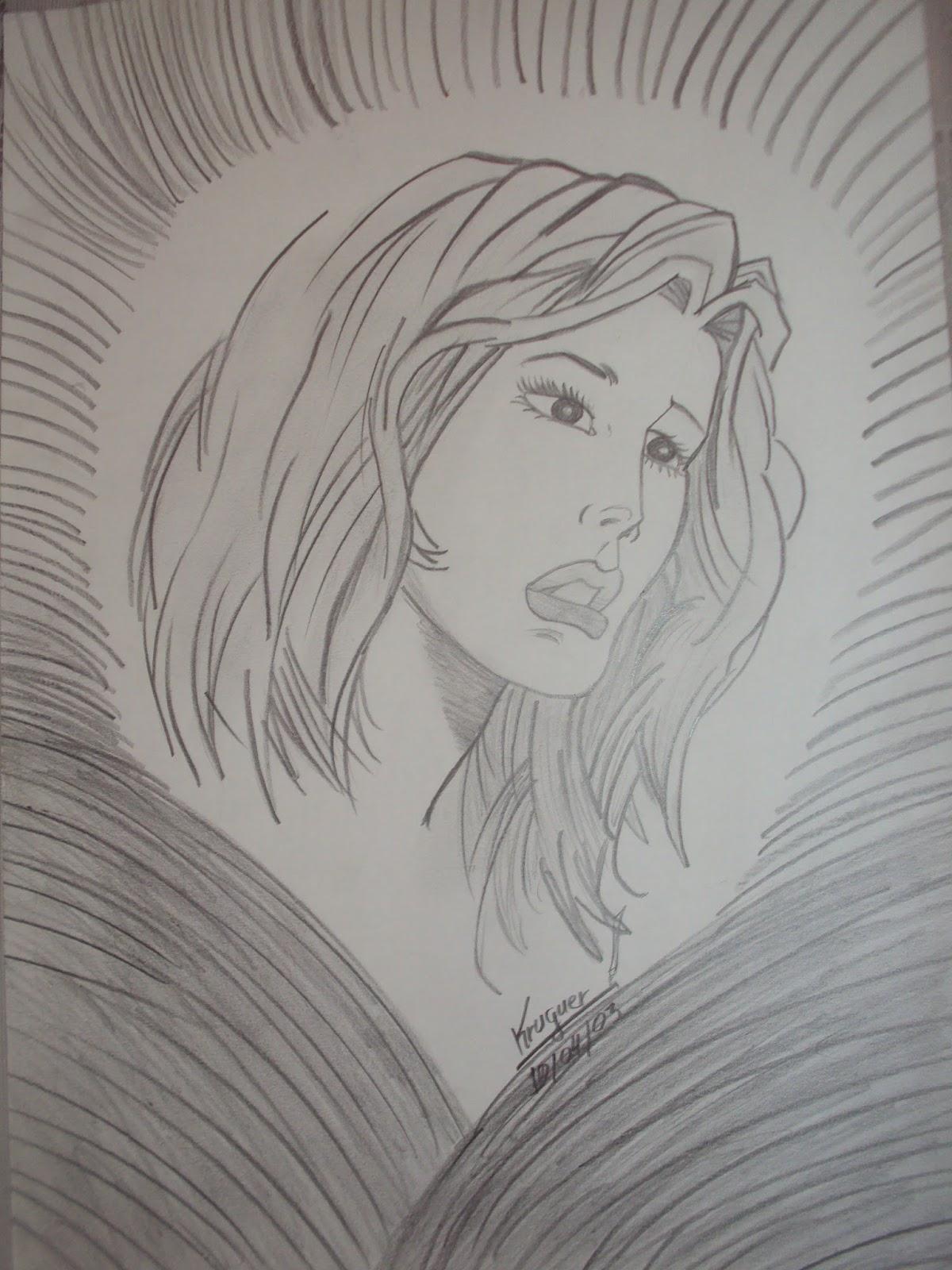 Blog Do Kruguer Desenho Mulher Triste