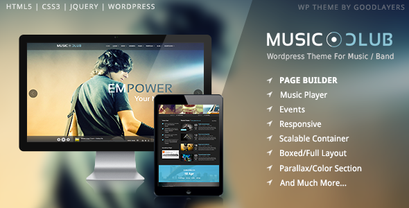 Music Band Club Party WordPress Template