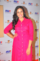 Sree Mukhi in Pink Kurti looks beautiful at Meet and Greet Session at Max Store (15).JPG