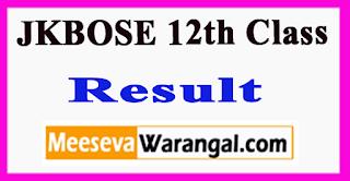 JKBOSE 12th Class Result 2017