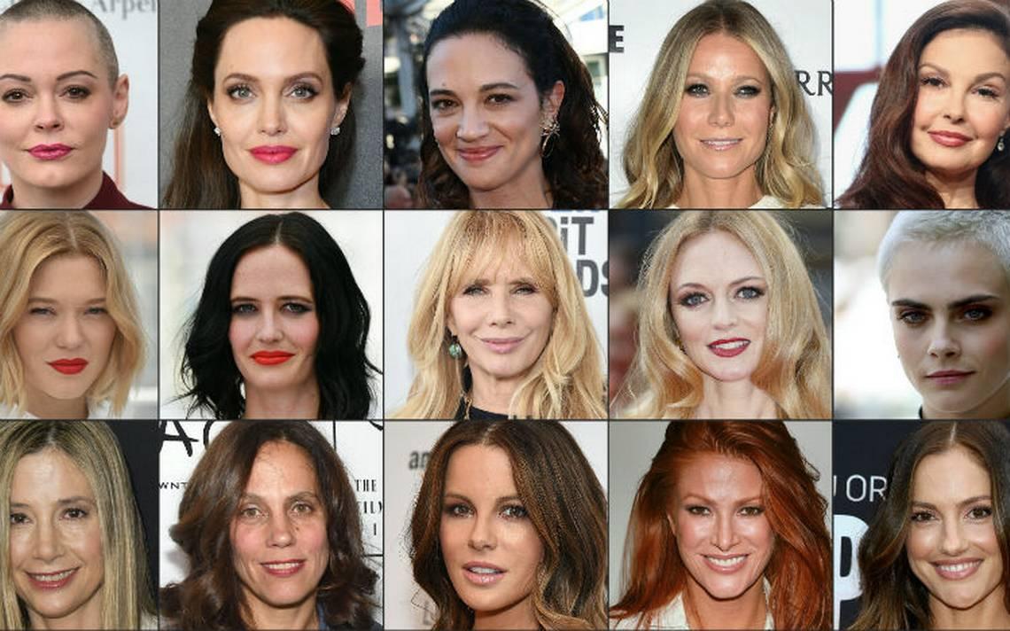Algunas de las actrices que han denunciado a Harvey Weinstein