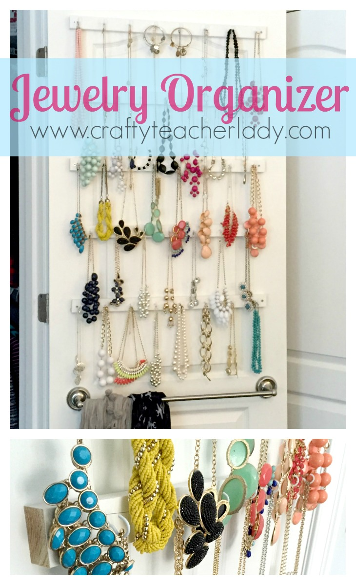 Crafty Teacher Lady DIY Closet Jewelry Organizer