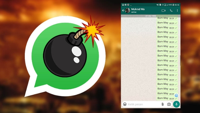 Cara Mudah Bom Chat WhatsApp