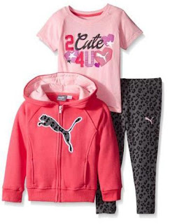 PUMA Little Girls Three Piece Set