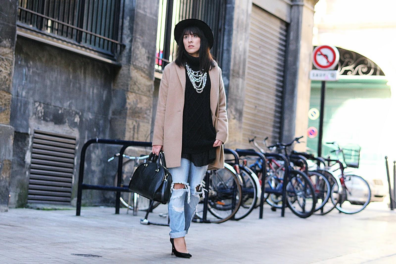 Beige and heels...