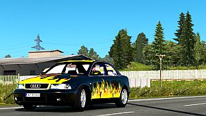 Flames skin for Audi A4 by LazyMods