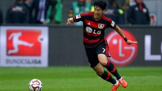Son Heung Min vắng mặt trong đội hình Leverkusen vì ốm.