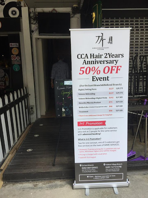 CCA Hair Salon Holland Village Far East Plaza promotion
