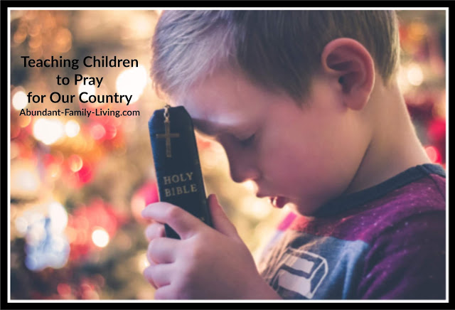 Teaching Children to Pray for Our Country