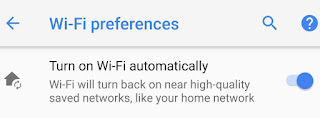 Location based Wi-Fi in Android Oreo