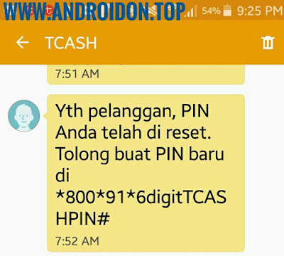 Cara reset PIN Telkomsel TCASH