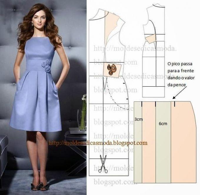Выкройка платья современная
