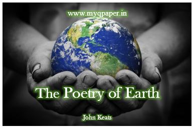 Download Wb Class 12 English Notes The Poetry Of Earth