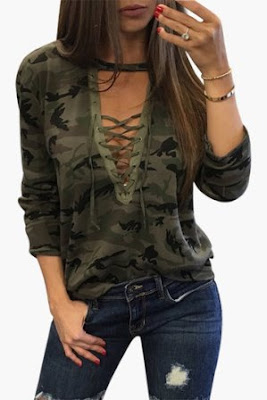 https://www.yoins.com/Sexy-Camouflage-Pattern-V-neck-Lace-up-Front-Top-p-1106414.html
