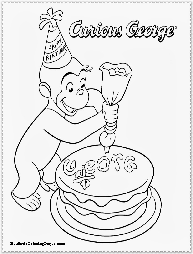 Curious George Coloring Pages | Realistic Coloring Pages