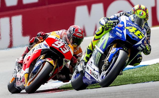 Rossi Bertarung Sengit Dengan Marquez di GP Catalunya 2016