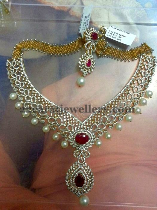 Latest Classic Diamond Set Jewellery Designs