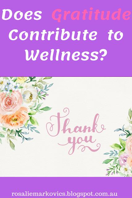 Does gratitude contribute to wellness?