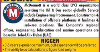 McDermott Dubai Jobs - Free Recruitment