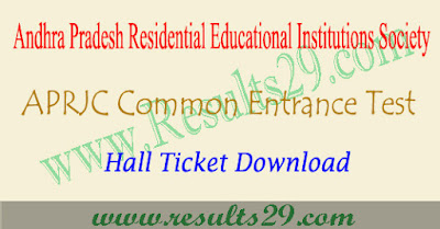 APRJC CET hall ticket download 2022 @aprs.cgg.gov.in