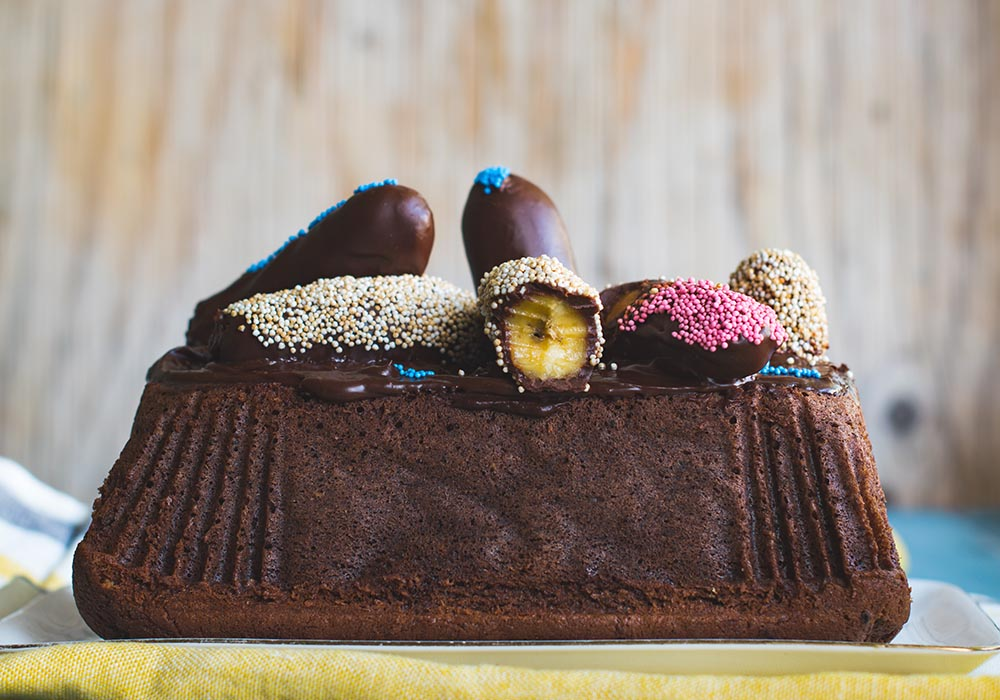 Sehr fluffiger Schokokuchen mit Banane - Chocolate Banana Bread