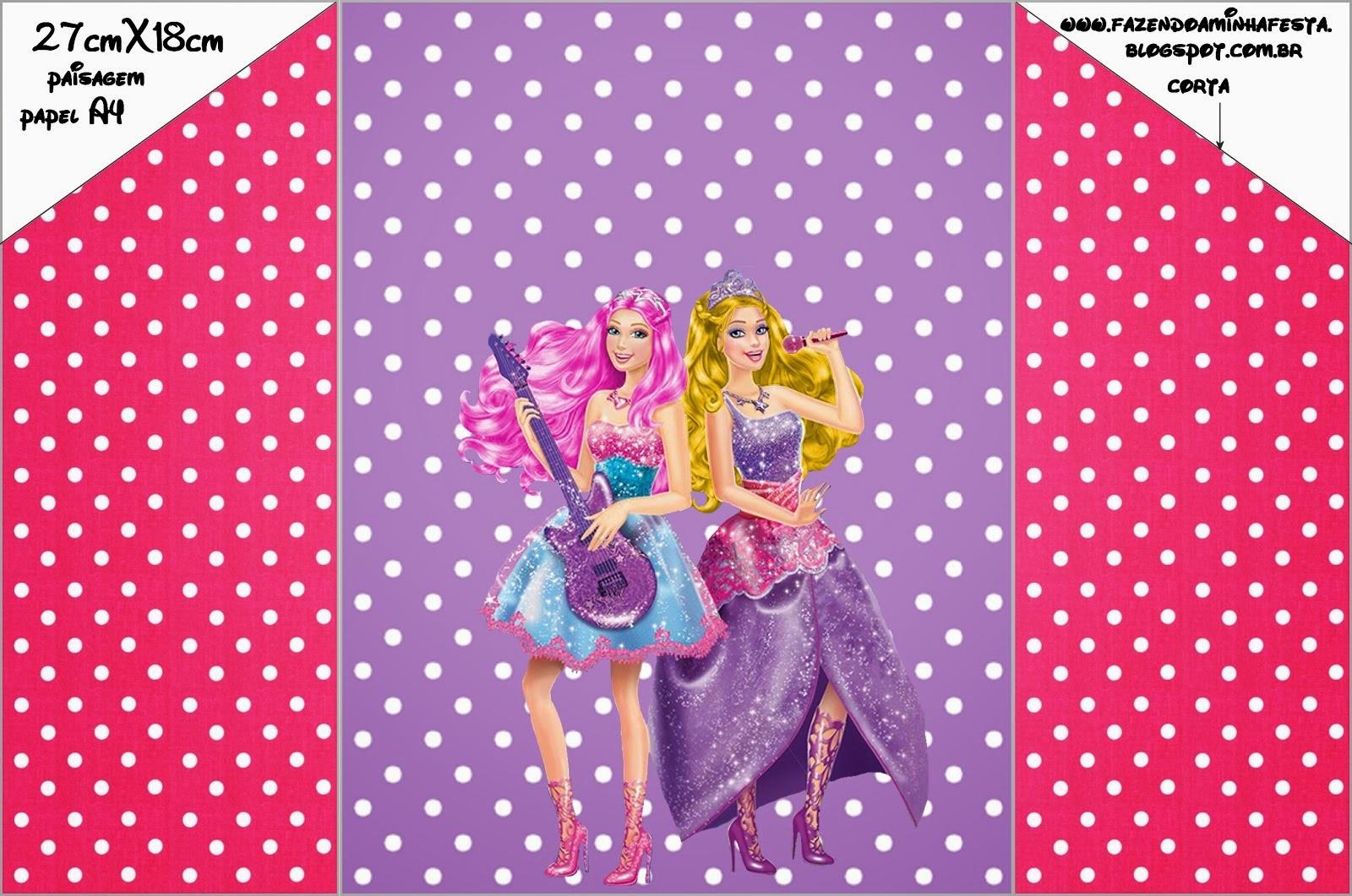 Barbie Rock Star Free Printable Invitations Oh My