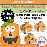 Place Value Pumpkins to 1000 place